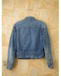 Free People - Blue Vintage Jean Jacket - Lyst