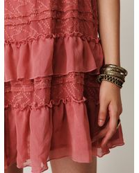 Free People - Pink Off The Shoulder Dress - Lyst