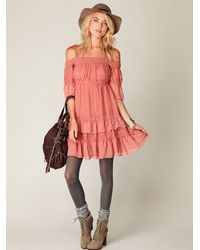 Free People | Pink Off The Shoulder Dress | Lyst