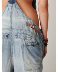 Free People - Blue Raer Donna Wideleg Overalls - Lyst