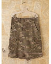 Free People | Green Vintage Camouflage Skirt | Lyst
