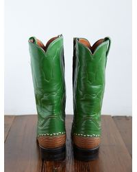 Free People - Green Vintage Cowboy Boots - Lyst