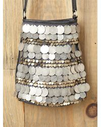 Free People | Metallic Dancing Coins Crossbody Bag | Lyst
