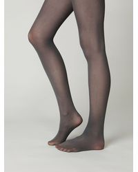 Free People | Gray London Opaque Tights | Lyst