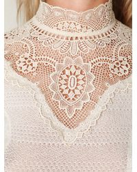 Free People - White Always On My Mind Top - Lyst