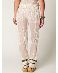 Free People | White Embellished Lace Pant | Lyst