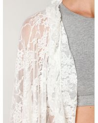 Free People | White Lace Frill Kimono | Lyst