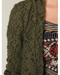 Free People - Green Lace Blazer - Lyst