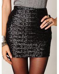 Free People | Black So Much Sun Skirt | Lyst