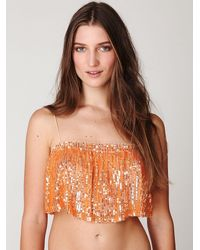 Free People | Orange Fp One Sequin Cami | Lyst