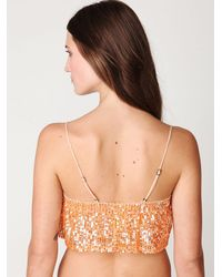 Free People - Orange Fp One Sequin Cami - Lyst