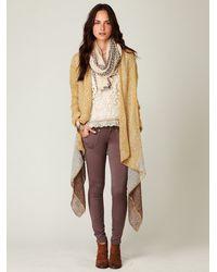 Free People | Brown 5 Pocket Seamed Knit Legging | Lyst