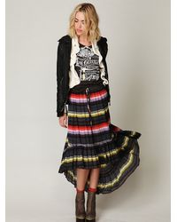 Free People | Multicolor Crinkle Pleated Hi-low Skirt | Lyst