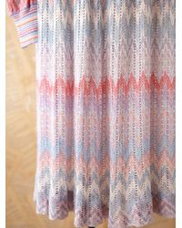 Free People - Multicolor Vintage Long Sleeve Knit Dress - Lyst