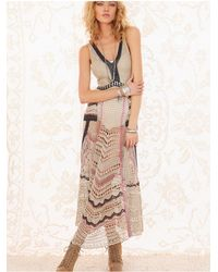 Free People | Natural Fp Spun Eighty Stages Crochet Dress | Lyst