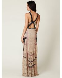 Free People - Natural Fp Spun Eighty Stages Crochet Dress - Lyst