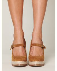 Free People | Brown Mary Jane Espadrille | Lyst