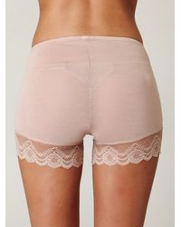 Free People | Pink Lace Trim Bike Shorts | Lyst