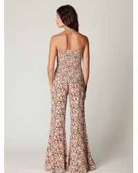 Free People | Multicolor Fp One Hippie Print Jumpsuit | Lyst