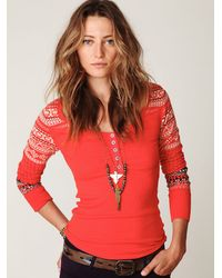 Free People | Pink Cabin Fever Layering Top | Lyst