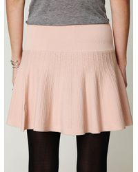 Free People - Pink Making Time Fit-n-flare Skirt - Lyst