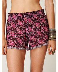Free People - So Much Fun Purple Shorts - Lyst