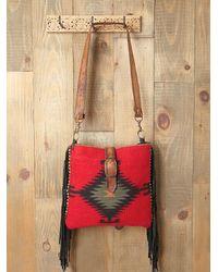 Free People | Red Palmedo Blanket Bag | Lyst