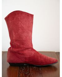 Free People - Red Vintage Cowboy Boots - Lyst