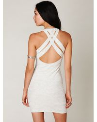 Free People | White Tribal Jacquard Body Con Dress | Lyst