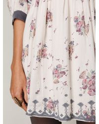 Free People - Multicolor Maharani Bubble Sleeve Dress - Lyst