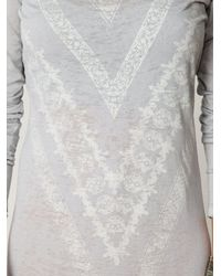 Free People | Gray We The Free Long Sleeve Graphic Maxi Dress | Lyst