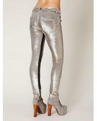 Free People - Metallic Distressed Sequin Pants - Lyst