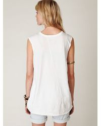 Free People - White We The Free Graphic Tunic - Lyst