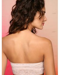 Free People - Pink Lace Trim Bandeau - Lyst