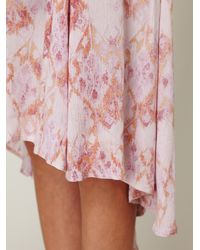 Free People | Pink Fp New Romantics Printed Buttondown Dress | Lyst