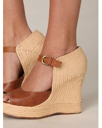 Free People | Brown Asher Wedge | Lyst