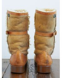 Free People - Brown Vintage Bass Snow Boots - Lyst