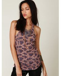 Free People | Multicolor Tree Swing Tunic - Light Stone | Lyst