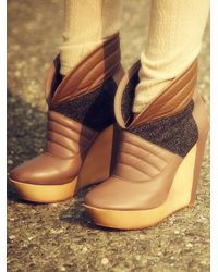 Free People | Brown Charmene Platform | Lyst