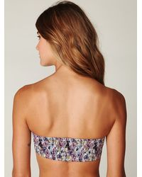 Free People | Multicolor Printed Smocked Bandeau | Lyst