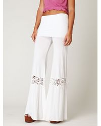 Free People | White Crochet Beach Pant | Lyst