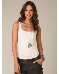 Free People | White Seamless Scoop Tank | Lyst