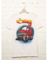 Free People - White Vintage Airbrush Chevy Tee - Lyst