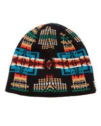 Pendleton | Black Motif Knit Hat for Men | Lyst