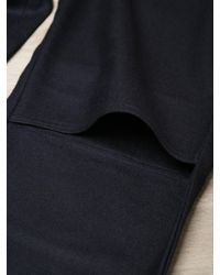 Unused | Black Mens Wool Cropped Trousers for Men | Lyst