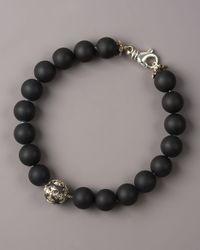 Armenta | Black Spiritual Bead Bracelet for Men | Lyst