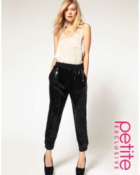 ASOS Collection - Black Asos Petite Exclusive Sequin Trousers - Lyst