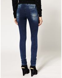 ASOS Collection | Blue Asos Supersoft Ultra Skinny Jean  | Lyst
