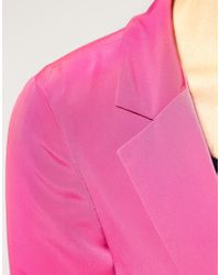 ASOS Collection - Pink Asos Petite Exclusive Cropped Blazer - Lyst