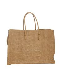 Balenciaga - Brown Crosshatched Leather Papier Tote - Lyst